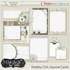 {Shabby Chic} Digital Journal Cards by Ooh La La Scraps available at Gingerscraps http://store.gingerscraps.net/Shabby-Chic-Journal-and-Pocket-Scrapbooking-Cards and Gotta Pixel http://www.gottapixel.net/store/product.php?productid=10017080&cat=&page=1 #digiscrap #digitalscrapbooking #oohlalascraps #shabbychic