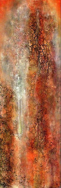 Gedachtenstroom, schilderij van Ali Kleinhuis   Abstract   Modern   Kunst