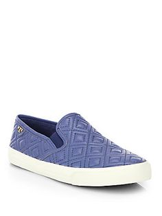 Tory Burch Jesse Quilted Leather Slip-On Sneakers