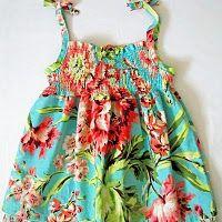 Shirred Twirly Dress Tutorial from an Igloo.