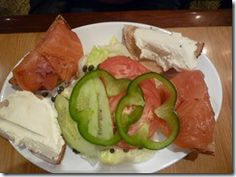 Smoked salmon platter at Carnegie Deli in New York City.