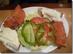 Smoked salmon platter at Carnegie Deli in New York City.