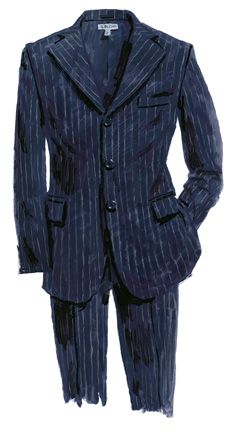 1940s chalk stripe suit. Pinned stripped suits was most popular in the 1940's although this is not my favourite style of suit i do like the simplicity of it.