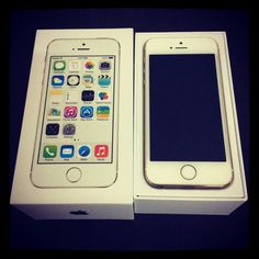 My brand new sealed box iPhone 5S 16 GB Champagne Gold purchased on Tuesday, April 29, 2014 around 5:30 PM.
