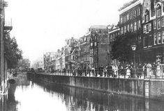 De Vijzelgracht Amsterdam  rond 1930, kort voor de demping in 1933. Adres van Jannetje Donselaar in 1760