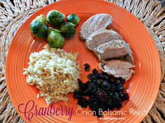 Delicious tangy cranberry onion balsamic relish- perfect side to compliment a #pork loin #dinner