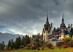 Man Made Peles Castle  Man Made Castle Romania Fall Building Architecture Landscape Wallpaper