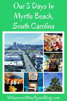 Myrtle Beach, South Carolina is the ultimate family vacation destination for sun and fun lovers. Take a look at the plethora of fun activities we participated in during our 5 day trip there including wine tasting, museums, fondue, and the SkyWheel.