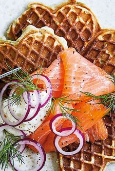Rolled ham and smoked salmon - Clean Eating Snacks Scandinavian Food, Fish Dishes, Fabulous Foods, Food Cravings, Easy Cooking, Clean Eating Snacks, Food Inspiration, Tapas, Love Food