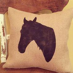 Throw Pillows/Horse Pillow/Horse/Horse by TheMaterialGirlTyler