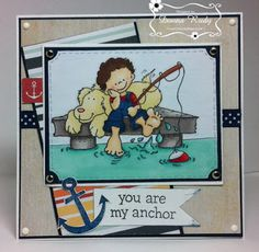 """ONECRAZYSTAMPER.COM: My Anchor by Donna using High Hopes Stamps """"Time Well Spent"""" (S077)"""