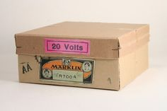 """Pre-war boxes and """"corner"""" staples Model Trains, Packaging, Branding, War, Brand Management, Wrapping, Identity Branding"""