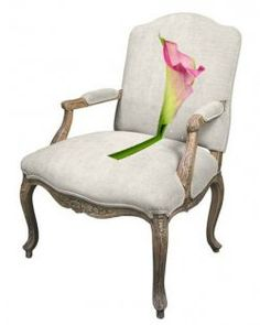 Stitch a custom needlepoint chair design of your own.