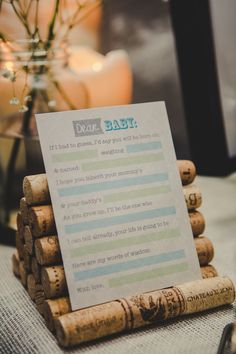"""Dear Baby"" baby shower activity or guest book"