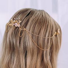 Wedding hair comb chain Crystal Hair accessories for wedding