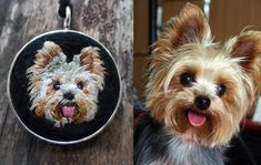 How cute is this little smiling Yorkie? This is not a custom necklace. It is…