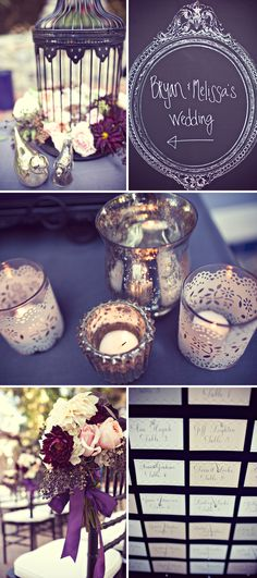 kari: LACE VOTIVES! some nice ideas with the candles, chalkboard, probably more for an outdoor wedding