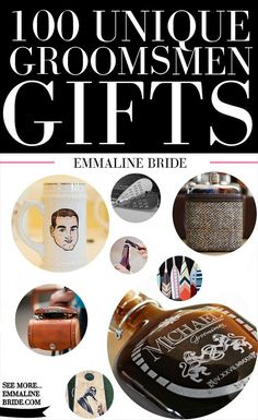 100 Most Unique Groomsmen Gifts for 2015 | http://emmalinebride.com/groom/unique-groomsmen-gifts-2015/