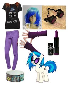 """Vinyl Scratch Inspired Look"" by dissyd311 ❤ liked on Polyvore featuring My Little Pony, Jack Wills and NYX"