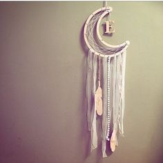 Dreamcatcher, baby gift, baby mobile, personalised dreamcatcher, new baby, wood, monogram gift, bohemian