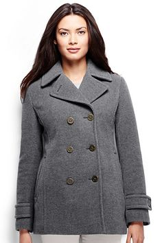 Forartt Women Peacoat Winter Outdoor Classic Double Breasted Pea Coats Jacket