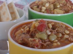 Brunswick Stew!  1 whole 4 lb chicken  1 (4 to 5 lb) Boston butt pork roast  5 onions, divided  1 bay leaf  2 pounds potatoes, peeled and cubed  2 pounds whole kernel corn (I prefer Silver Queen)  2 lbs butterbeans  2 (28 ounce) cans diced tomatoes and the juice (or use an equivalent amount fresh tomatoes)  2 pounds okra, sliced  2 cans tomato paste  1 tablespoon Tabasco sauce  salt and pepper to taste