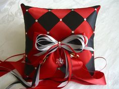 Wedding Ring Bearer Pillow with Swarovski by SisiCreations on Etsy, $52.00