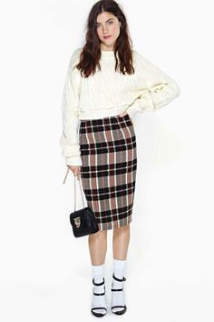 Old School Midi Skirt