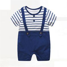 Baby Boy Clothes Summer Baby Rompers Gentleman Newborn Baby Clothes Roupas Bebe Infant Jumpsuits Kids Clothes Baby Girl Clothing #Affiliate