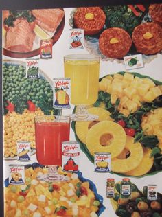 LIBBY'S FRUITS & VEGETABLES Original 1950s Vintage Magazine Ad Kitchen Print Decor Additional Ads Ship Free Ready To Frame