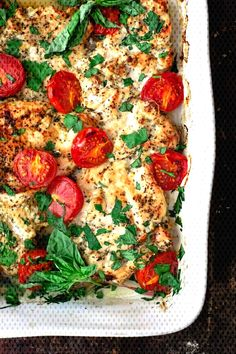 We can never have too many delicious and quick chicken recipes, can we? You'll love this healthy, juicy Italian Baked Chicken Recipe. Boneless skinless chicken breasts prepared with a simple spice mixture, garlic and olive Italian Baked Chicken, Easy Baked Chicken, Baked Chicken Breast, Italian Chicken Recipes, Basil Chicken, Italian Chicken Breast, Fried Chicken, Mediterranean Diet Recipes, Mediterranean Dishes