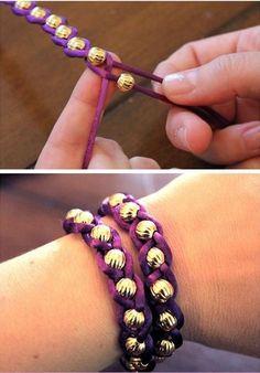 Pretty easy to create bracelet weaving