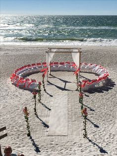 The circle of life tiki torches www.abeautifulfloridawedding.com