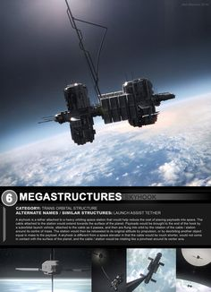 Megastructures 6 Skyhook Design Packet by https://www.deviantart.com/artofsoulburn on @DeviantArt