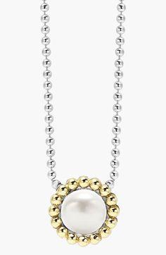 Women's LAGOS Stone Pendant Necklace - Pearl