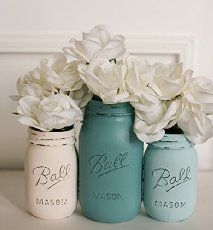30 Best + Cheap Rustic Mason Jar Wedding Ideas - Page 2 of 2 - Deer Pearl Flowers Cheap Mason Jars, Mason Jar Centerpieces, Rustic Wedding Centerpieces, Mason Jar Candles, Mason Jar Diy, Wedding Decorations, Rustic Weddings, Wedding Rustic, Romantic Weddings