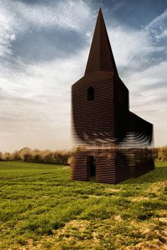 eddiefortuna:  Reading Between the Lines (Gijs Van Vaerenbergh) Never have I seen 30 tons of steel appear so delicate. If we end up getting married in Belgium, this will be the spot.Just FYI.