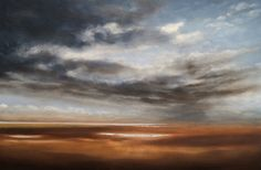 """Big Summer Skies over Holkham in #Norfolk. Oil on canvas 30"""" x 20"""" by oil painter Nial Adams"""
