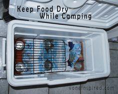 Use cooling racks inside your cooler