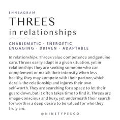 Likes, 164 Comments - Enneagram Enneagram Type 3, Enneagram Test, Leadership Quotes, Education Quotes, Infp, Development Quotes, Leadership Development, Encouragement, Nerd