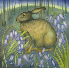 The Bluebell Hare (print)