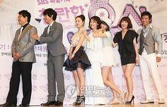 Shining Inheritance--(from left): Director, Lee Seung Gi, Moon Chae Won, Kim Mi Sook, Han Hyo Joo, Han Ye Won, and Bae Soo Bin @ press conference Bae Soo Bin, Brilliant Legacy, Han Hyo Joo, Moon Chae Won, Lee Seung Gi, Korean Drama Movies, Korean Star, Actors & Actresses, Kdrama