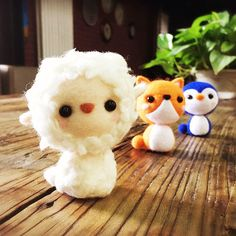 Needle felted felting kit project Animals cute for beginners starters