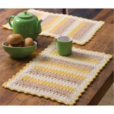 Free Cornmeal Mats Crochet Pattern
