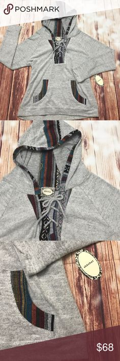 SOFT Blanket Hoodie Say hello to your FAVORITE hoodie! Perfect for bonfires and chilly nights! Fuzzy and soft 100% Polyester! Beautiful Detailing! Do not pass this baby up! Tops Sweatshirts & Hoodies