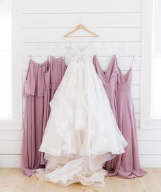 Have your ladies looking lovely in lavender! Try our shade Lavender Haze for the perfect dusty purple tone for your spring or summer wedding! | #lavenderbridesmaids #lavenderwedding #purplebridesmaids | Style F19773, F19953, F20065, F20064 in Lavender Haze | Shop these styles and more at davidsbridal.com | Photo by: @rootedtrumpetphotography Lavender Bridesmaid Dresses, Davids Bridal Bridesmaid Dresses, Wedding Dresses, Purple Table Decorations, Dusty Purple, Summer Wedding, Spring, Shop, Style