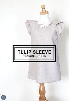 Tulip Sleeve Peasant Dress