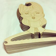 A new Batch of Laser engraved plywood coat hangers... | LASER CUT STUDIO