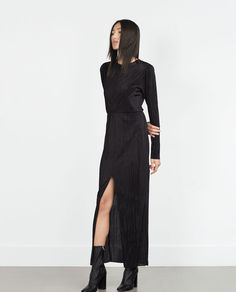 PLEATED DRESS from Zara