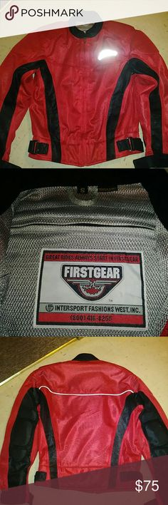 First Gear mesh riding jacket Padded motorcycle riding jacket firstgear Jackets & Coats Performance Jackets